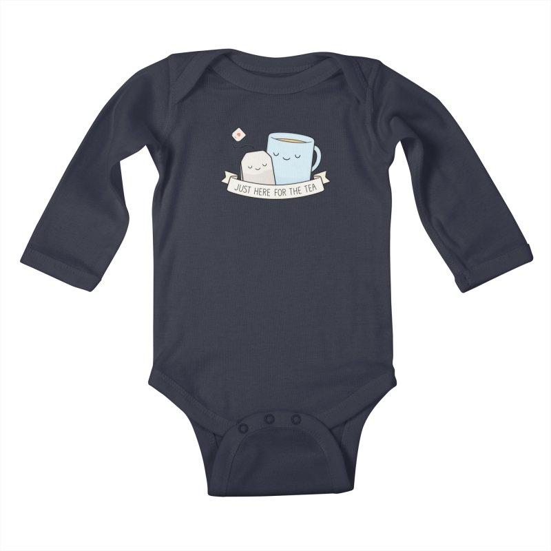 Just Here For The Tea Kids Baby Longsleeve Bodysuit by Kim Vervuurt