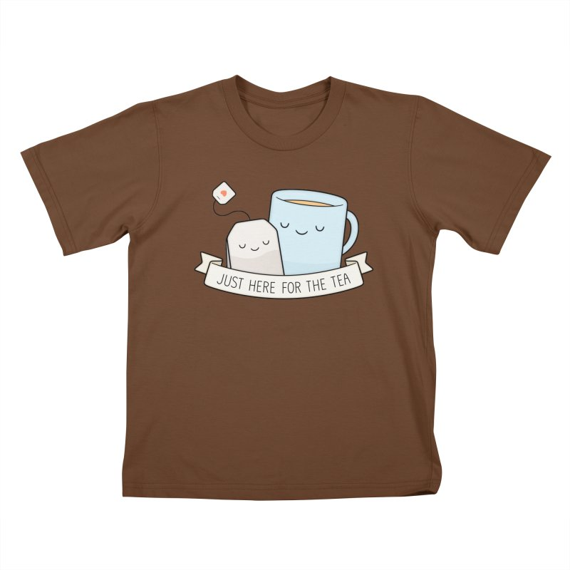 Just Here For The Tea Kids T-Shirt by Kim Vervuurt