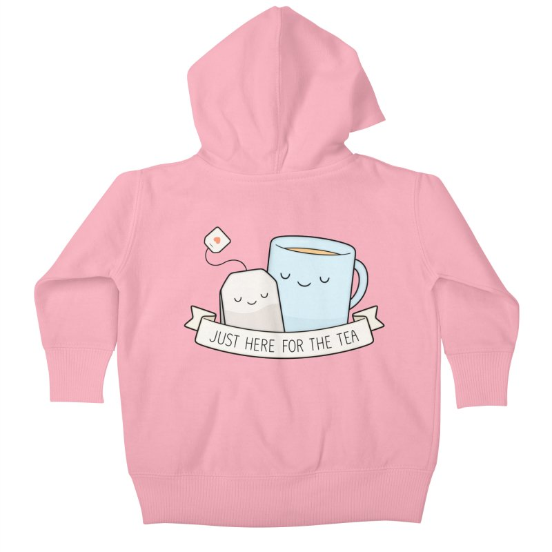 Just Here For The Tea Kids Baby Zip-Up Hoody by Kim Vervuurt