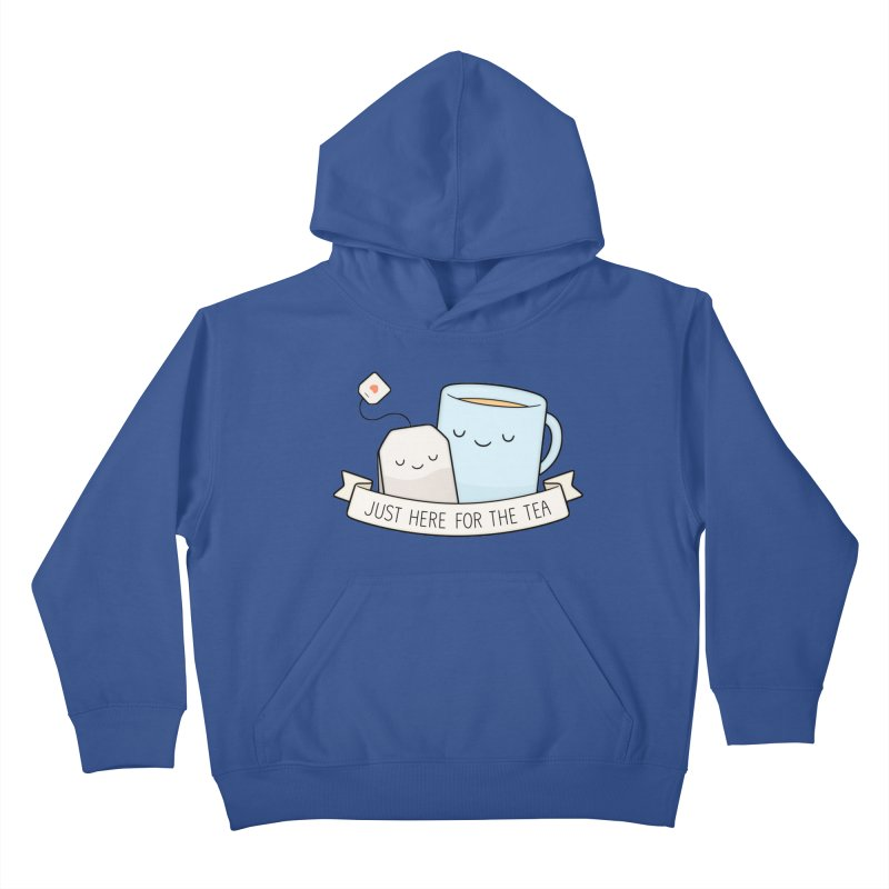 Just Here For The Tea Kids Pullover Hoody by Kim Vervuurt