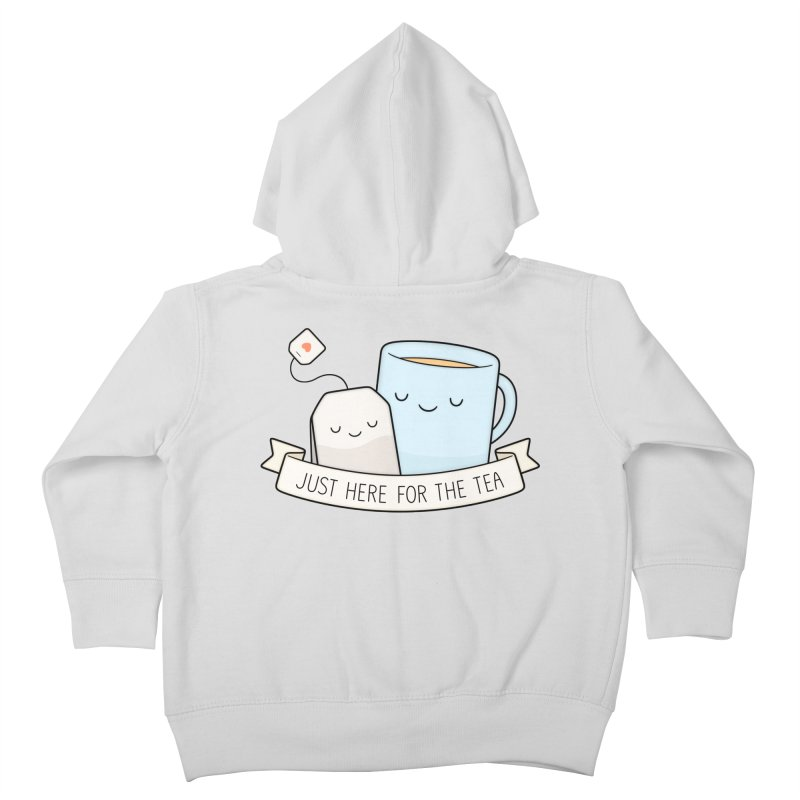 Just Here For The Tea Kids Toddler Zip-Up Hoody by Kim Vervuurt