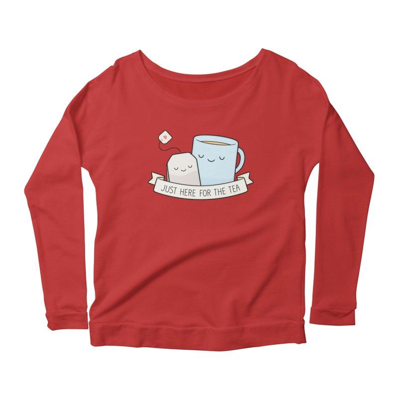 Just Here For The Tea Women's Scoop Neck Longsleeve T-Shirt by Kim Vervuurt