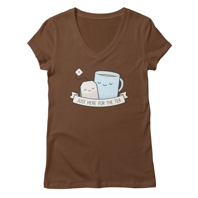 Just Here For The Tea Women's Regular V-Neck by Kim Vervuurt