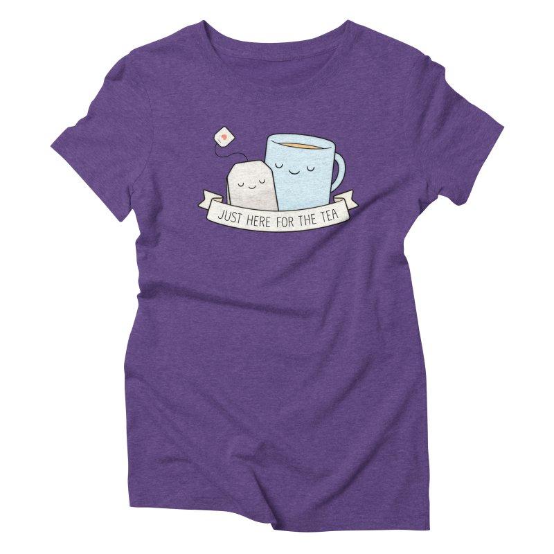 Just Here For The Tea Women's Triblend T-Shirt by Kim Vervuurt