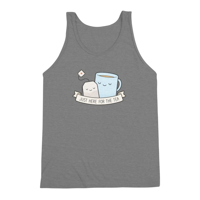 Just Here For The Tea Men's Triblend Tank by Kim Vervuurt