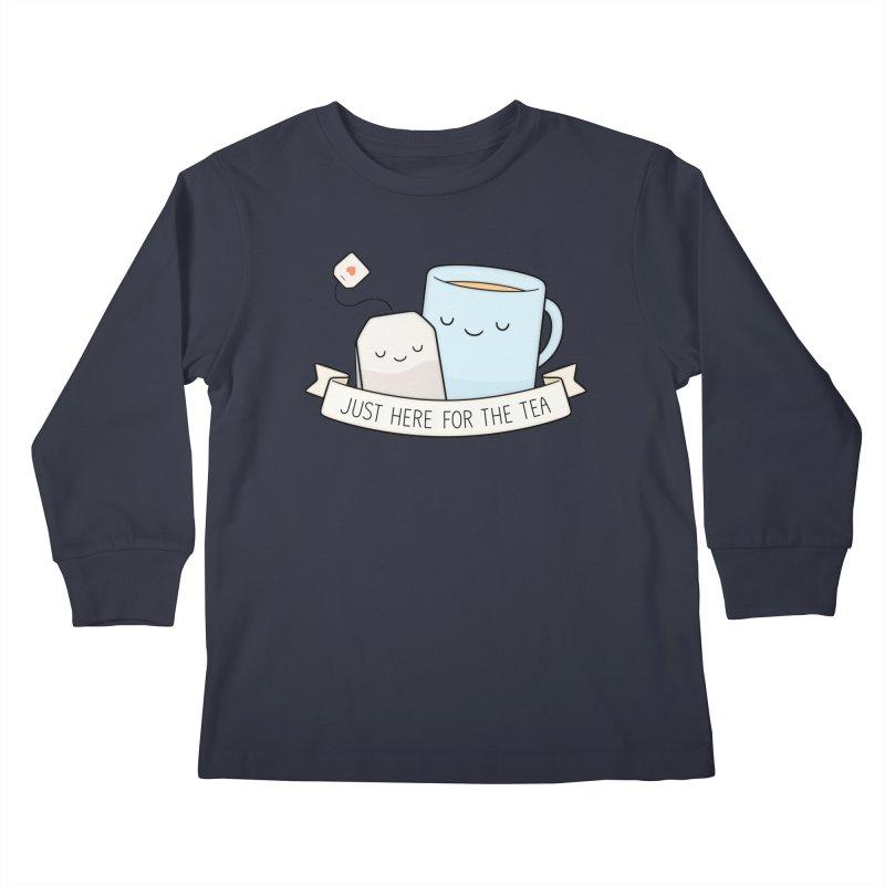 Just Here For The Tea Kids Longsleeve T-Shirt by Kim Vervuurt