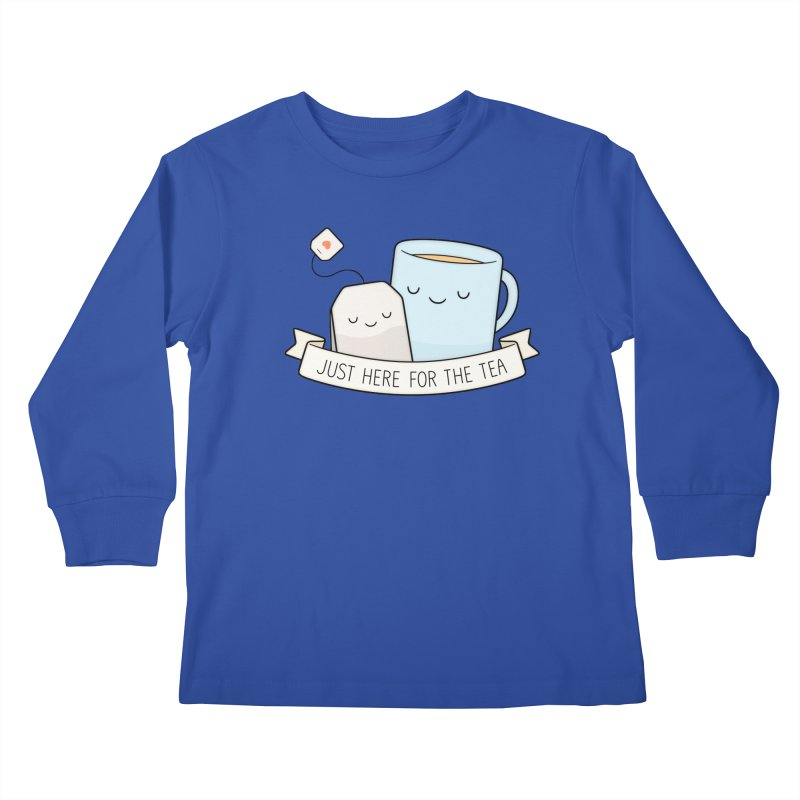 Just Here For The Tea Kids Longsleeve T-Shirt by Kim Vervuurt