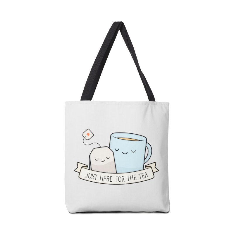 Just Here For The Tea Accessories Tote Bag Bag by Kim Vervuurt
