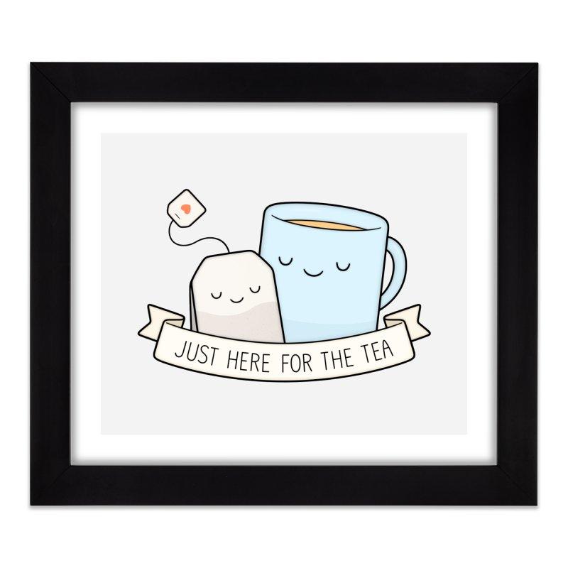 Just Here For The Tea Home Framed Fine Art Print by Kim Vervuurt