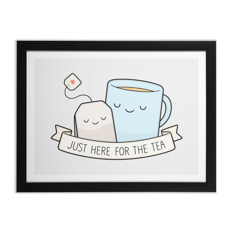 Just Here For The Tea Home Framed Fine Art Print by Kim Vervuurt