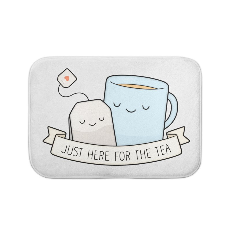 Just Here For The Tea Home Bath Mat by Kim Vervuurt