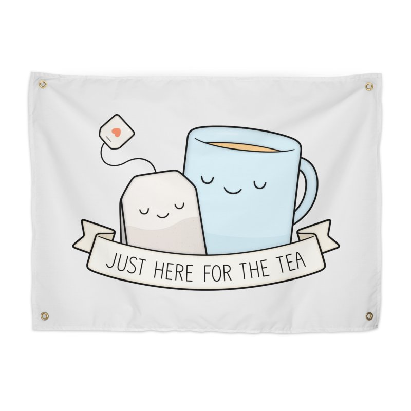 Just Here For The Tea Home Tapestry by Kim Vervuurt
