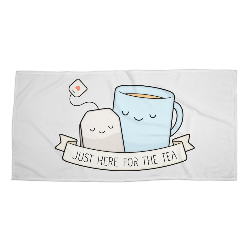 Just Here For The Tea Accessories Beach Towel by Kim Vervuurt