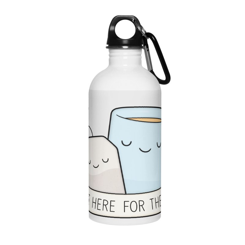 Just Here For The Tea Accessories Water Bottle by Kim Vervuurt