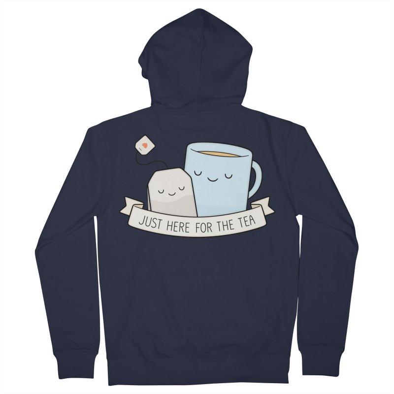 Just Here For The Tea Men's Zip-Up Hoody by Kim Vervuurt