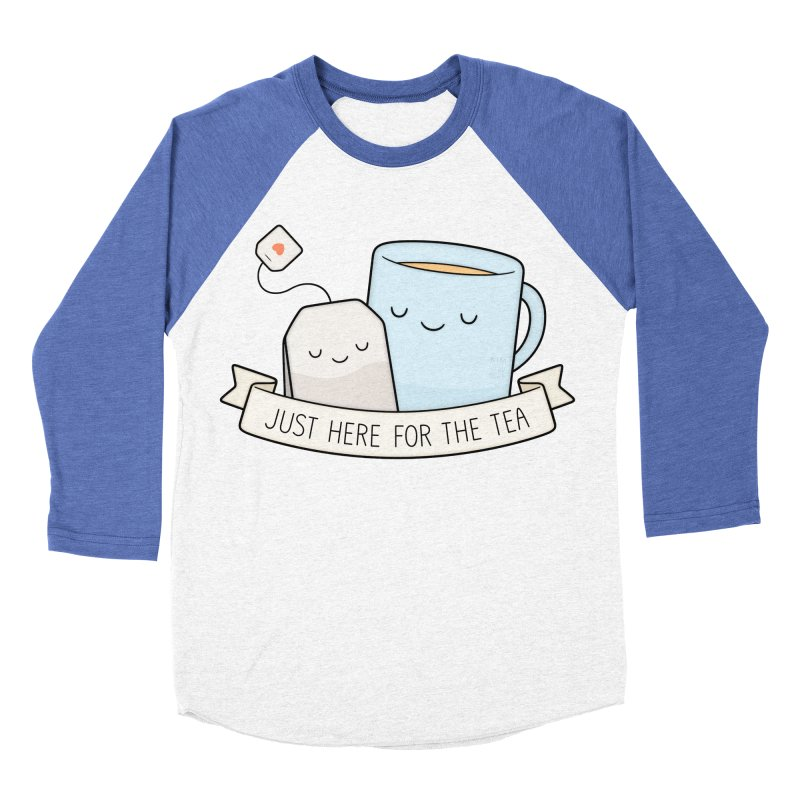 Just Here For The Tea Men's Baseball Triblend T-Shirt by Kim Vervuurt