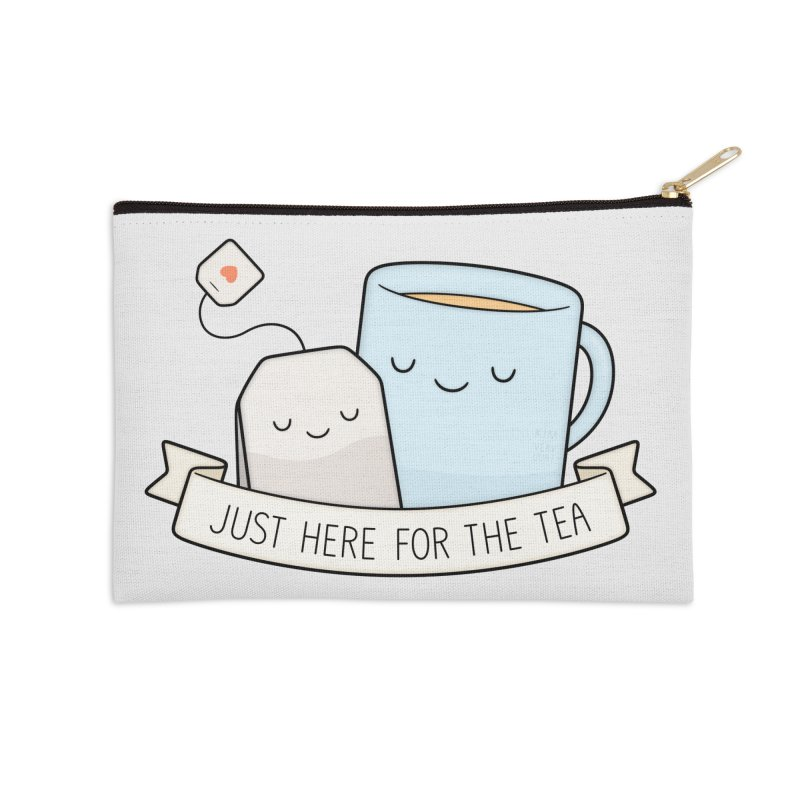 Just Here For The Tea Accessories Zip Pouch by Kim Vervuurt