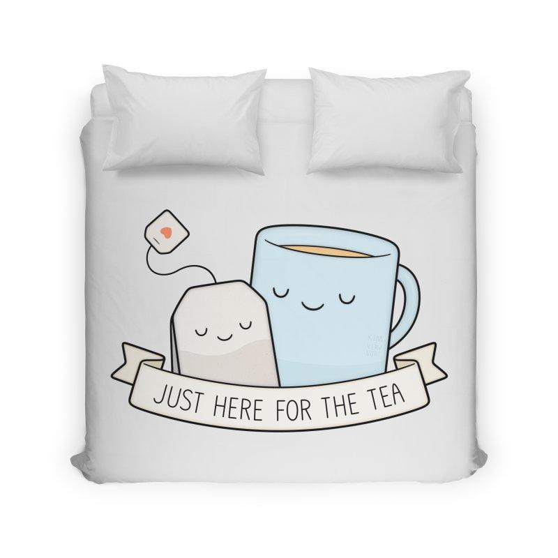 Just Here For The Tea Home Duvet by Kim Vervuurt