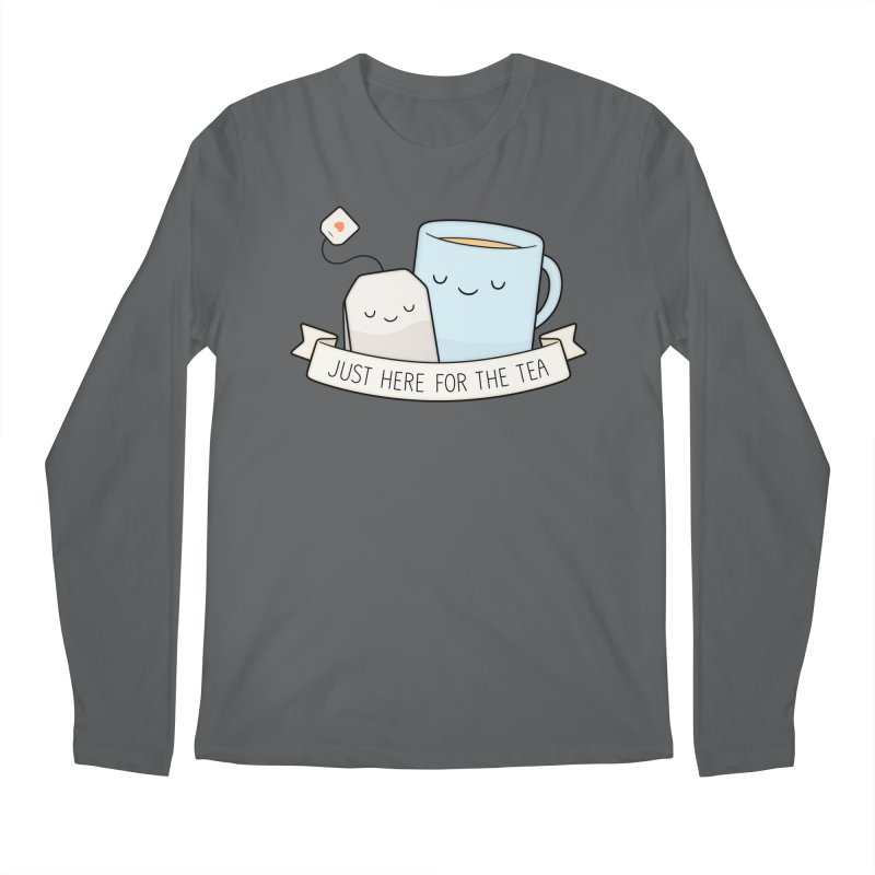 Just Here For The Tea Men's Longsleeve T-Shirt by Kim Vervuurt