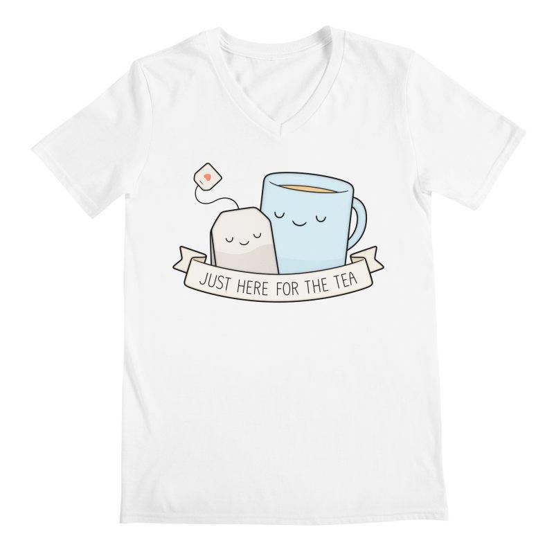 Just Here For The Tea Men's V-Neck by Kim Vervuurt