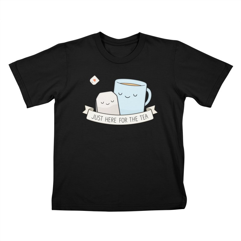Just Here For The Tea Kids T-Shirt by Kim Vervuurt
