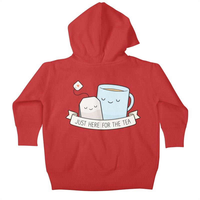 Just Here For The Tea Kids Baby Zip-Up Hoody by Kim Vervuurt