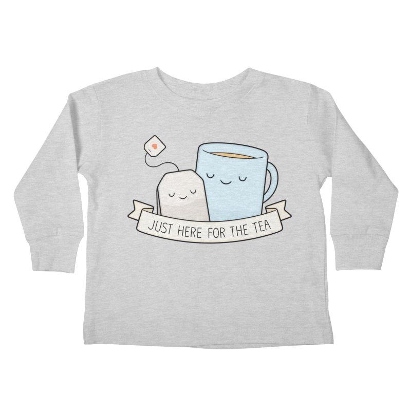 Just Here For The Tea Kids Toddler Longsleeve T-Shirt by Kim Vervuurt