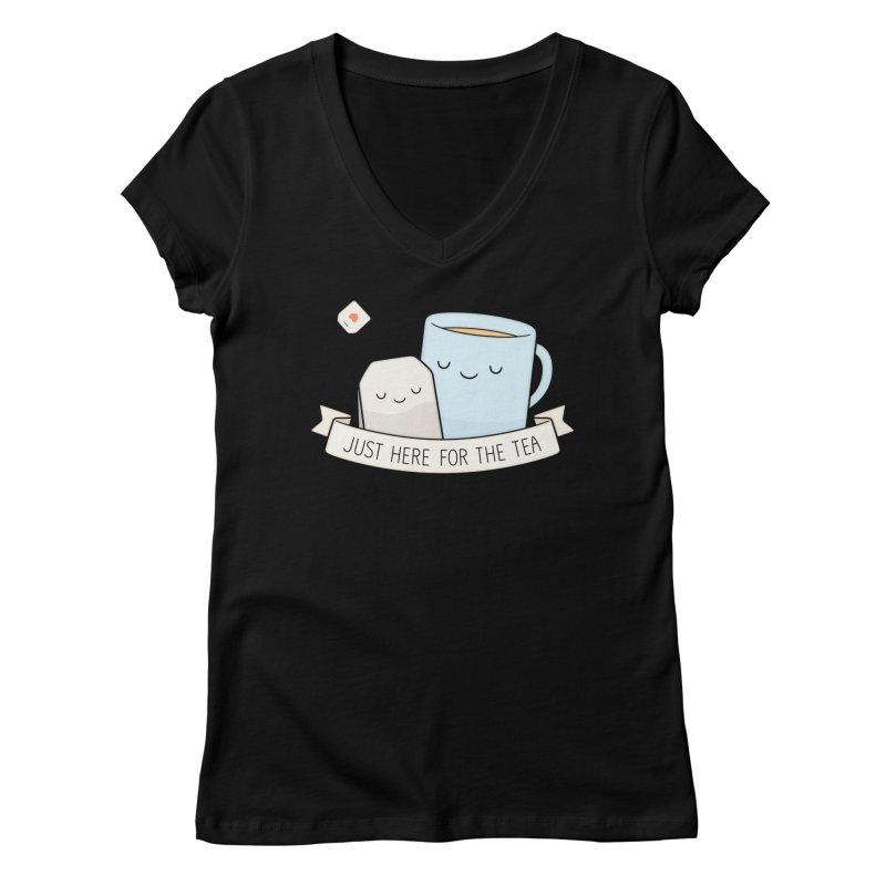 Just Here For The Tea Women's V-Neck by Kim Vervuurt