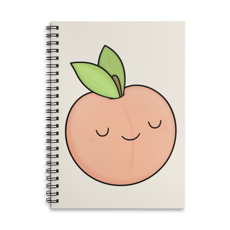 Peach! Accessories Lined Spiral Notebook by Kim Vervuurt