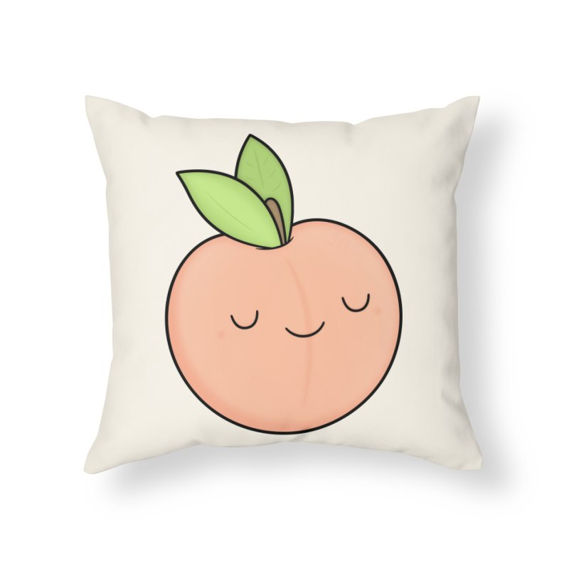 Peach! Home Throw Pillow by Kim Vervuurt