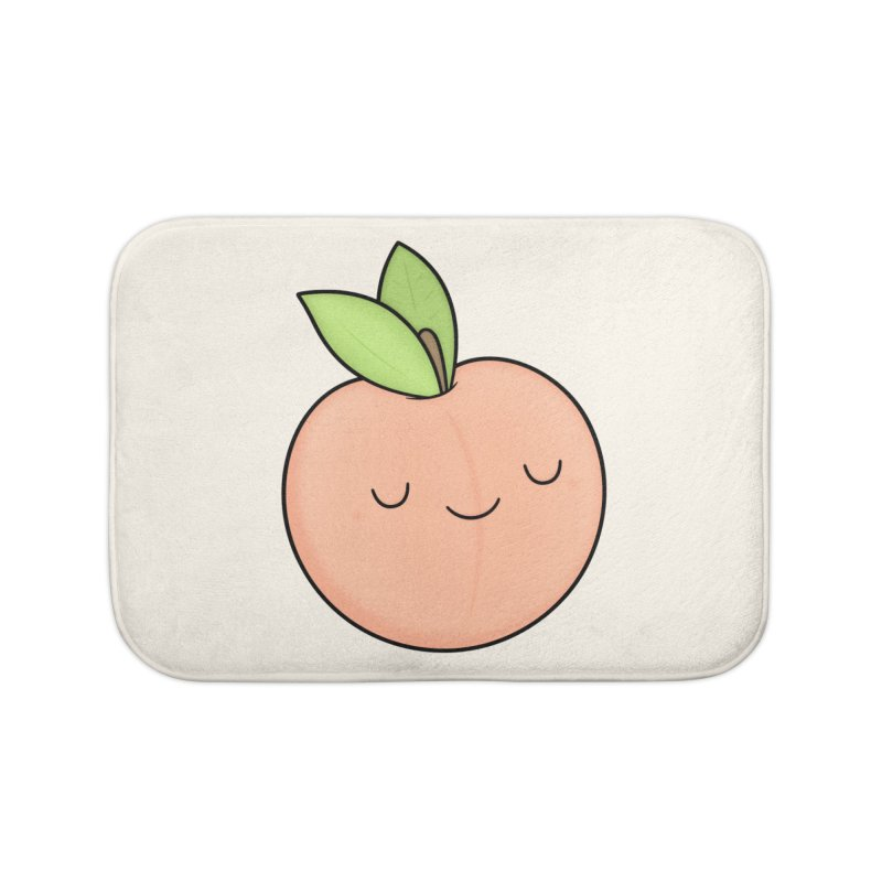 Peach! Home Bath Mat by Kim Vervuurt