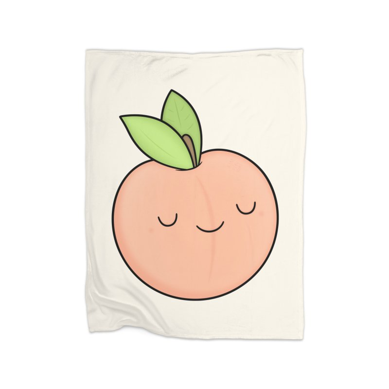 Peach! Home Fleece Blanket Blanket by Kim Vervuurt