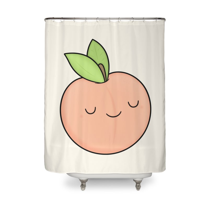 Peach! Home Shower Curtain by Kim Vervuurt