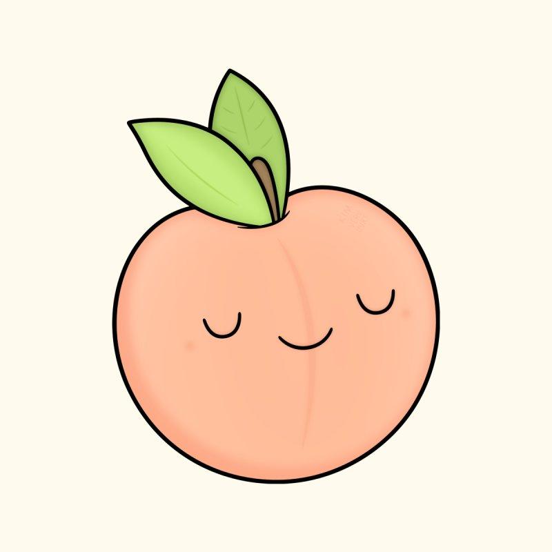Peach! Men's Zip-Up Hoody by Kim Vervuurt