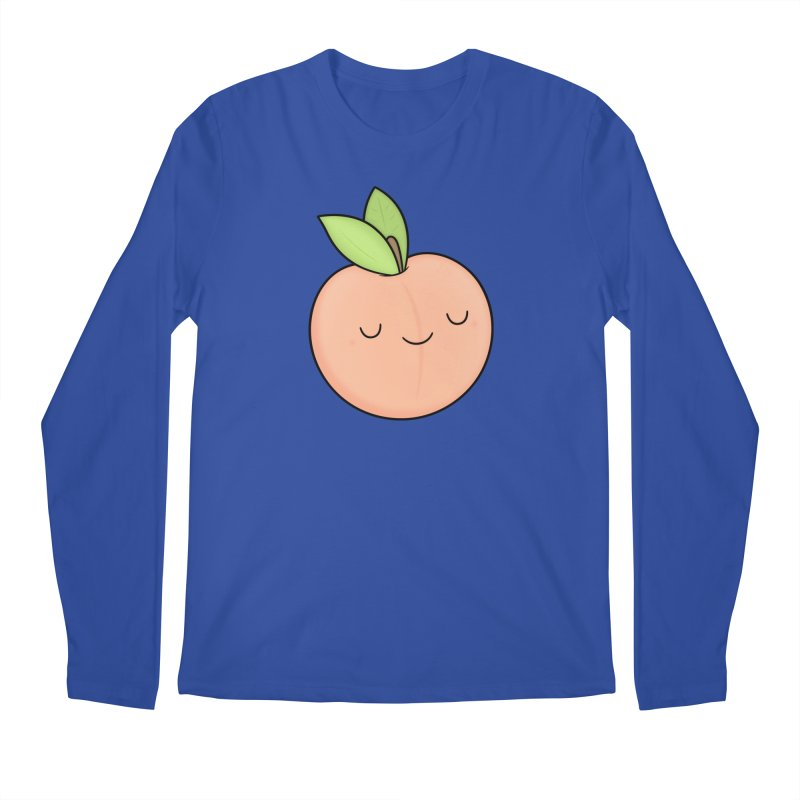 Peach! Men's Longsleeve T-Shirt by Kim Vervuurt