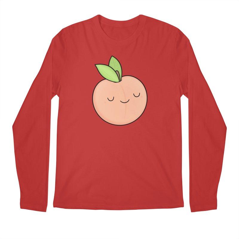 Peach! Men's Regular Longsleeve T-Shirt by Kim Vervuurt