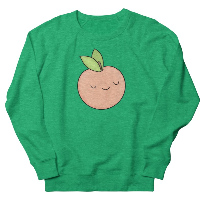 Peach! Men's French Terry Sweatshirt by Kim Vervuurt