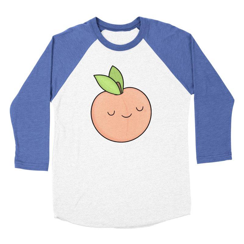 Peach! Women's Baseball Triblend Longsleeve T-Shirt by Kim Vervuurt