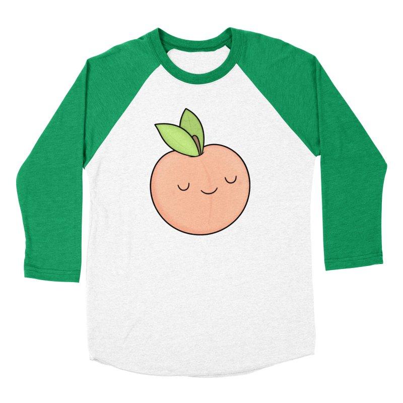 Peach! Men's Baseball Triblend Longsleeve T-Shirt by Kim Vervuurt