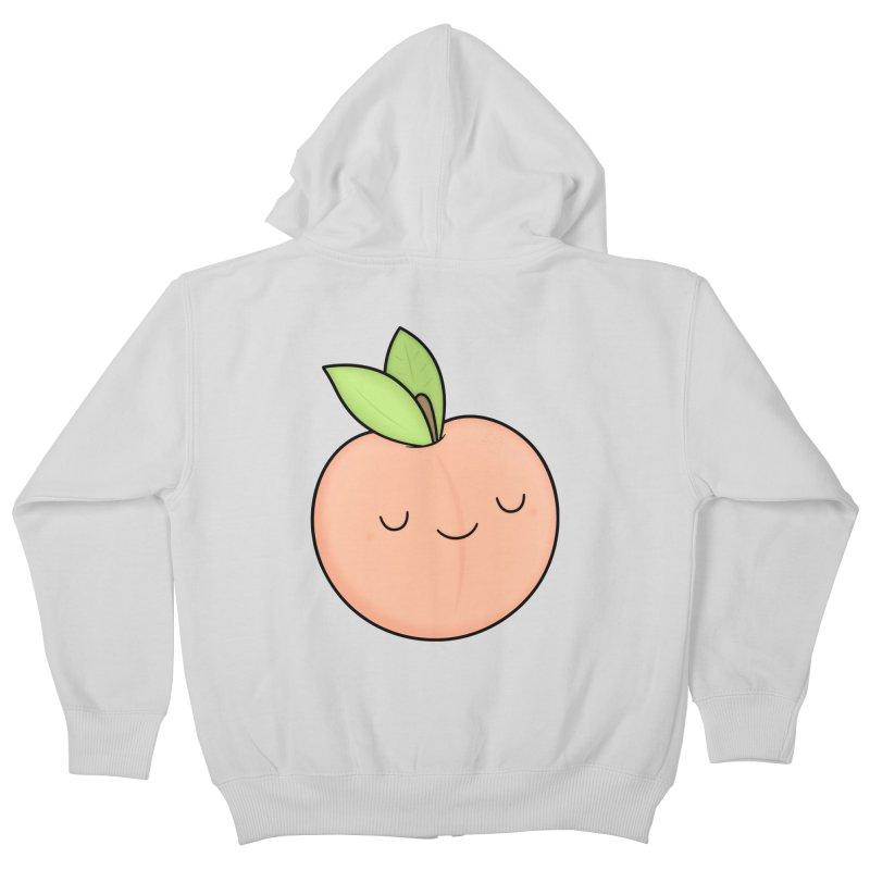 Peach! Kids Zip-Up Hoody by Kim Vervuurt