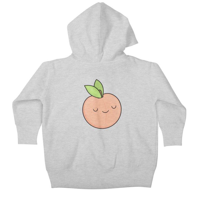Peach! Kids Baby Zip-Up Hoody by Kim Vervuurt