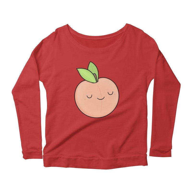 Peach! Women's Scoop Neck Longsleeve T-Shirt by Kim Vervuurt
