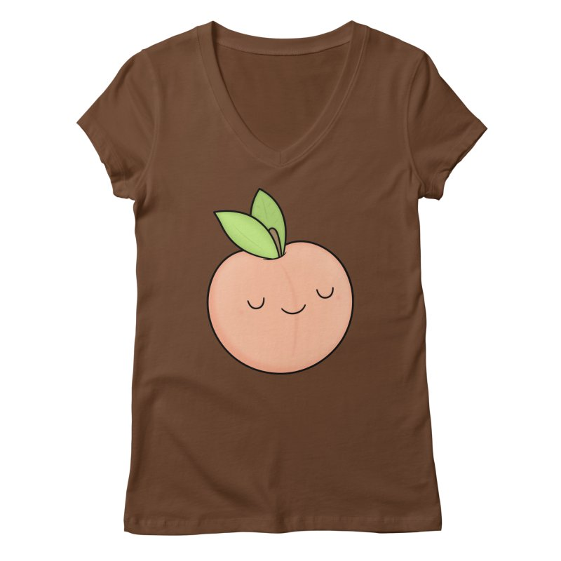 Peach! Women's V-Neck by Kim Vervuurt