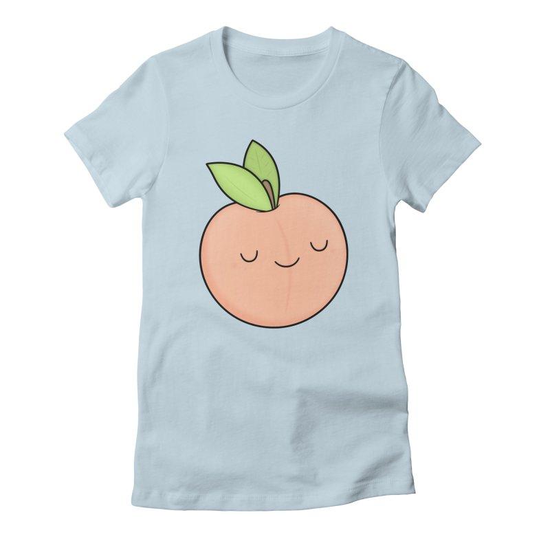 Peach! Women's Fitted T-Shirt by Kim Vervuurt