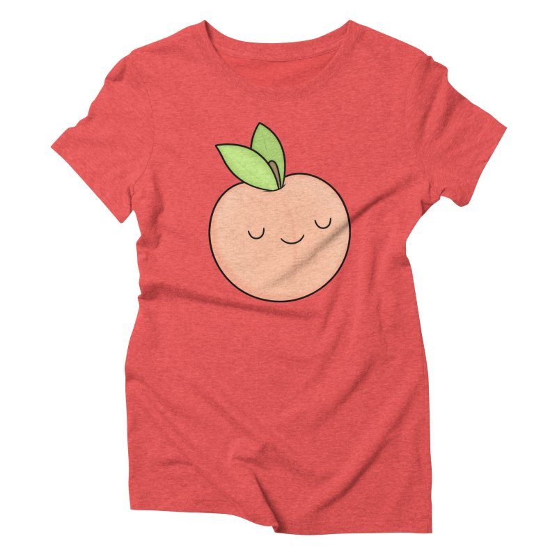 Peach! Women's Triblend T-Shirt by Kim Vervuurt