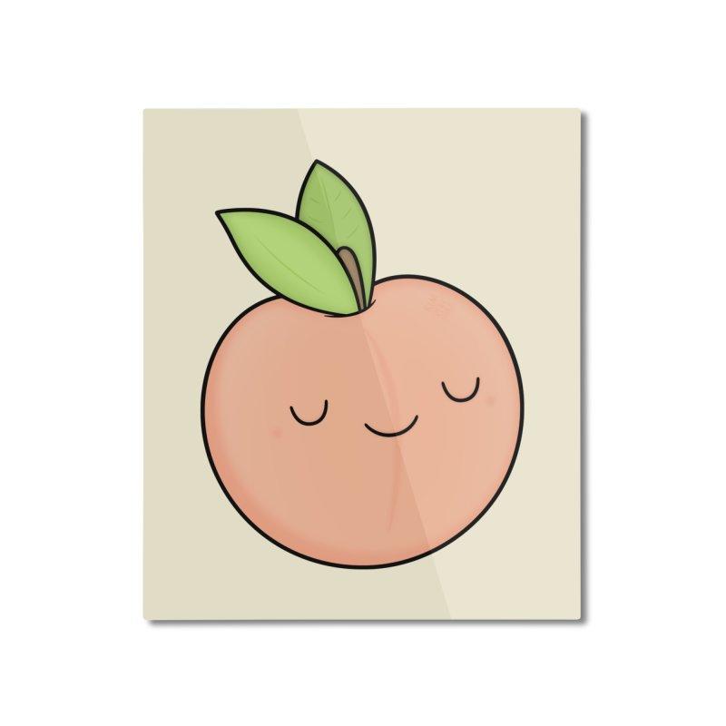 Peach! Home Mounted Aluminum Print by Kim Vervuurt