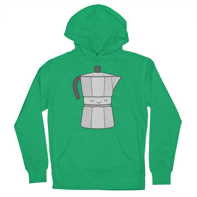 Coffee Men's French Terry Pullover Hoody by Kim Vervuurt