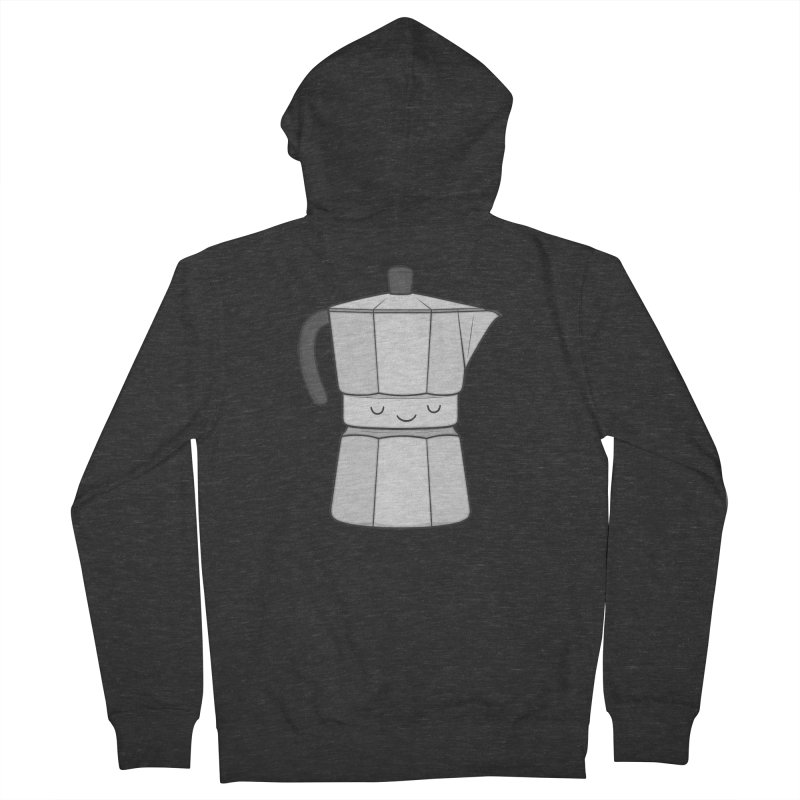 Coffee Men's French Terry Zip-Up Hoody by Kim Vervuurt