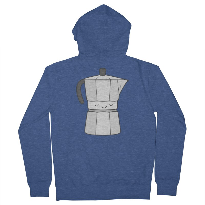 Coffee Men's Zip-Up Hoody by Kim Vervuurt