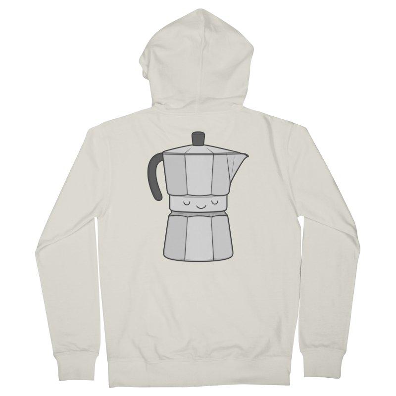 Coffee Men's Zip-Up Hoody by Kim Vervuurt